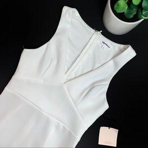 Superdown White Sleeveless A-Line Mini Dress